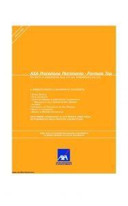Axa - Axa Protezione Patrimonio Formula Top - Modello 4648 Edizione 31-03-2008 [46P]