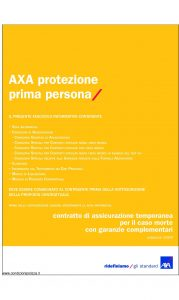 Axa - Axa Protezione Prima Persona - Modello 4661 Edizione 31-03-2009 [52P]