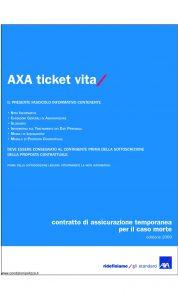 Axa - Axa Ticket Vita - Modello 4728 Edizione 31-03-2009 [28P]