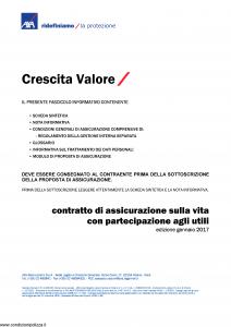 Axa - Crescita Valore - Modello 4770 Edizione 01-2017 [31P]
