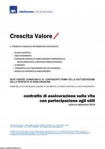 Axa - Crescita Valore - Modello 4770 Edizione 09-2016 [31P]
