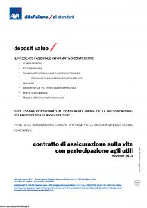 Axa - Deposit Value - Modello 4743 Edizione 31-05-2013 [41P]