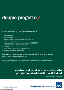 Axa - Doppio Progetto - Modello 4813 Edizione 05-10-2016 [63P]