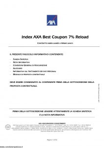 Axa - Index Axa Best Coupon 7% Reload - Modello 4708 Edizione 06-2007 [46P]