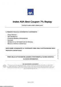Axa - Index Axa Best Coupon 7% Replay - Modello 4707 Edizione 05-2007 [46P]