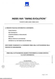 Axa - Index Axa Swing Evolution - Modello 4669 Edizione 15-09-2005 [40P]