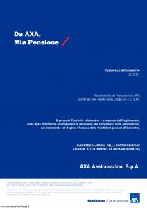 Axa - Mia Pensione - Modello 4801 Edizione 2017 [115P]