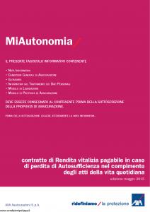 Axa - Miautonomia - Modello 4773 Edizione 05-2015 [30P]
