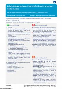 Axa - Multiprotezione Persone E Patrimonio - Modello quad0002 Edizione 01-2019 [183P]