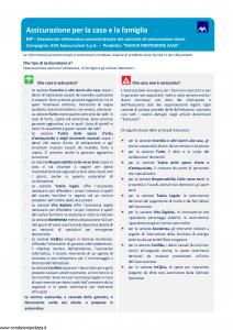 Axa - Nuova Protezione Casa - Modello 2073 Edizione 01-2019 [124P]