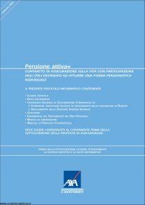Axa - Pensione Attiva + - Modello 4576 Edizione 30-11-2005 [54P]