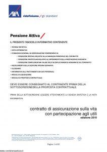 Axa - Pensione Attiva - Modello 4001 Edizione 2010 [62P]