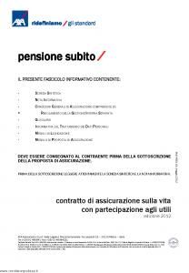Axa - Pensione Subito - Modello 4681 Edizione 05-2012 [38P]