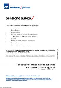 Axa - Pensione Subito - Modello 4782 Edizione 30-01-2014 [38P]