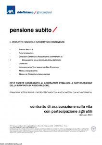 Axa - Pensione Subito - Modello nd Edizione 2010 [36P]