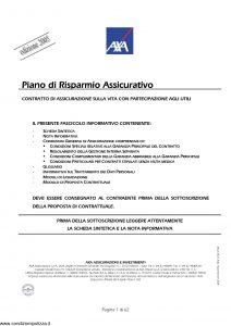 Axa - Piano Di Risparmio Assicurativo - Modello 4523 Edizione 11-2005 [62P]