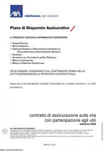Axa - Piano Di Risparmio Assicurativo - Modello 4530 Edizione 03-2009 [62P]