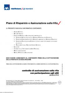 Axa - Piano Di Risparmio E Assicurazione Sulla Vita - Modello 4528 Edizione 05-2012 [62P]