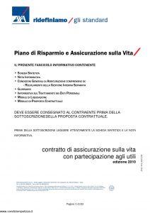 Axa - Piano Di Risparmio E Assicurazione Sulla Vita - Modello 4528 Edizione 2010 [62P]
