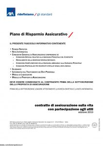 Axa - Piano Risparmio Assicurativo - Modello 4001 Edizione 2010 [54P]