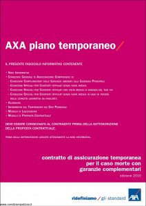 Axa - Piano Temporaneo - Modello 4515 Edizione 31-03-2010 [36P]