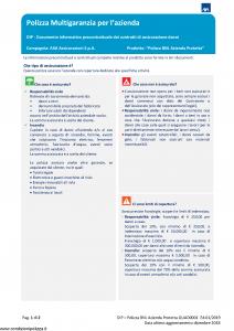 Axa - Polizza Bnl Azienda Protetta - Modello quad0001 Edizione 01-2019 [113P]