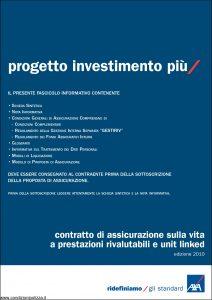 Axa - Progetto Investimento Piu' - Modello 4658 Edizione 01-12-2010 [76P]