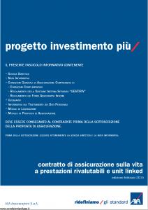 Axa - Progetto Investimento Piu' - Modello 4792 Edizione 02-2015 [78P]