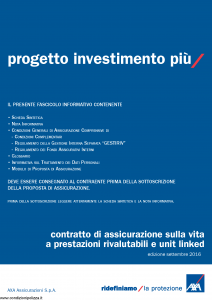Axa - Progetto Investimento Piu' - Modello 4792 Edizione 05-10-2016 [73P]