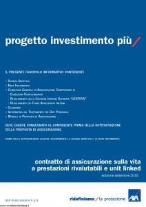 Axa - Progetto Investimento Piu' - Modello 4792 Edizione 09-2016 [73P]