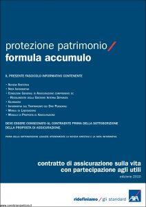 Axa - Protezione Patrimonio Formula Accumulo - Modello 4649 Edizione 01-12-2010 [42P]