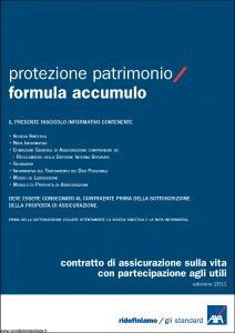 Axa - Protezione Patrimonio Formula Accumulo - Modello 4649 Edizione 31-05-2011 [42P]