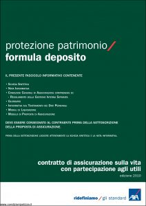 Axa - Protezione Patrimonio Formula Deposito - Modello 4736 Edizione 01-12-2010 [38P]