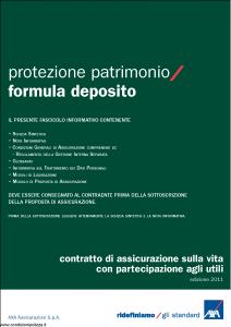 Axa - Protezione Patrimonio Formula Deposito - Modello 4736 Edizione 31-05-2011 [38P]