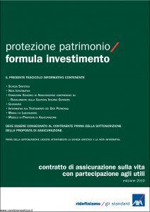 Axa - Protezione Patrimonio Formula Investimento - Modello 4737 Edizione 01-12-2010 [38P]