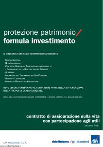 Axa - Protezione Patrimonio Formula Investimento - Modello 4737 Edizione 31-05-2011 [38P]