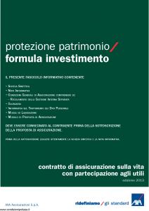 Axa - Protezione Patrimonio Formula Investimento - Modello 4737 Edizione 31-05-2013 [42P]