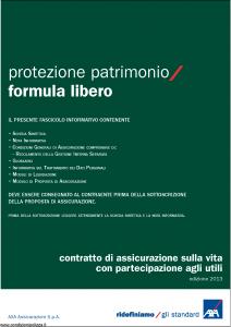 Axa - Protezione Patrimonio Formula Libero - Modello 4735 Edizione 31-05-2013 [42P]