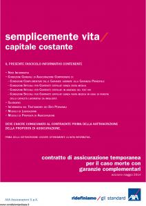 Axa - Semplicemente Vita Capitale Costante - Modello 4786 Edizione 30-05-2014 [34P]