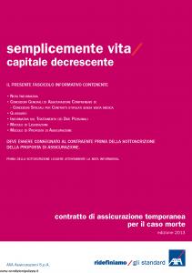 Axa - Semplicemente Vita Capitale Decrescente - Modello 4787 Edizione 08-08-2013 [28P]