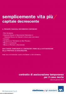Axa - Semplicemente Vita Piu' Capitale Decrescente - Modello 4789 Edizione 30-01-2014 [28P]
