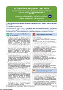 Axa - Semplicemente Vita Premio Annuo - Modello 4819 Edizione 01-2019 [42P]