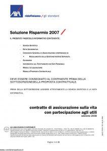 Axa - Soluzione Risparmio 2007 - Modello 4705 Edizione 03-2009 [40P]