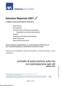 Axa - Soluzione Risparmio 2007 - Modello 4705 Edizione 03-2010 [39P]
