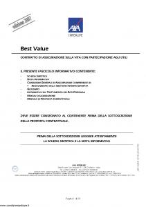 Axa Interlife - Best Value - Modello axa int 106 Edizione 03-2007 [38P]