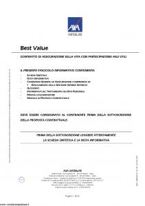 Axa Interlife - Best Value - Modello axa int 106 Edizione 11-2005 [35P]
