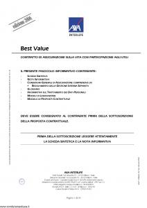 Axa Interlife - Best Value - Modello axa int 106 Edizione 31-03-2006 [35P]
