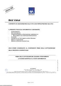 Axa Interlife - Best Value - Modello axa int 106 Edizione 31-03-2008 [39P]