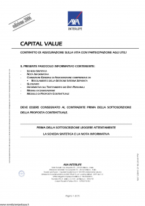 Axa Interlife - Capital Value - Modello axa int 086 Edizione 31-03-2006 [35P]