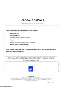 Axa Interlife - Global Domani 1 - Modello axa int 110 Edizione 11-2005 [37P]
